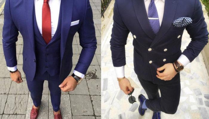合う に 紺 スーツ ネクタイ の