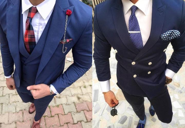 ネイビー,スーツ,ネクタイ,結婚式