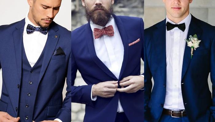 ネイビースーツに似合う蝶ネクタイはコレ【組み合わせのルールを