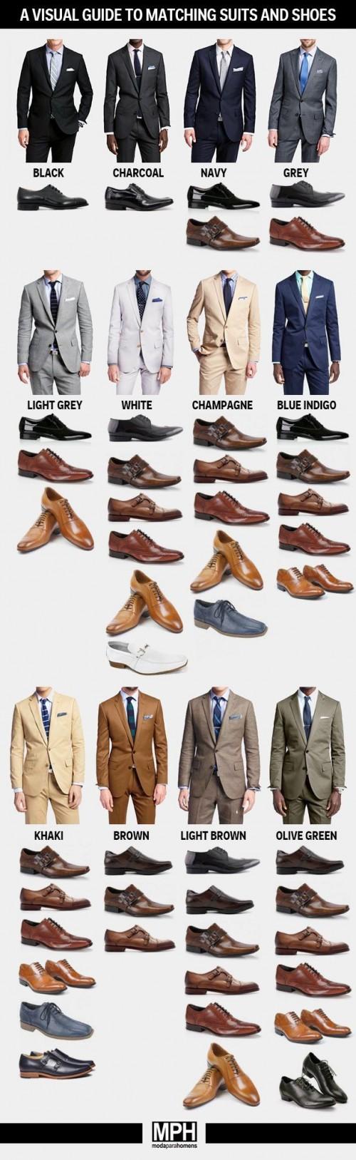 スーツと靴の組み合わせ