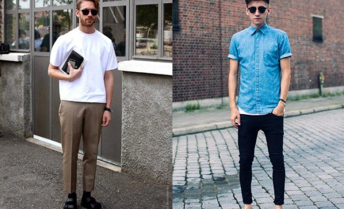 夏,ファッション,メンズ,低身長