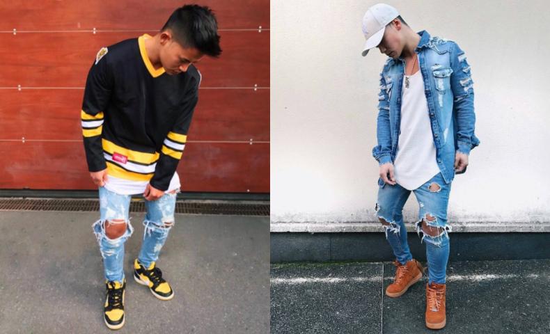 秋,ストリートファッション,メンズ,男
