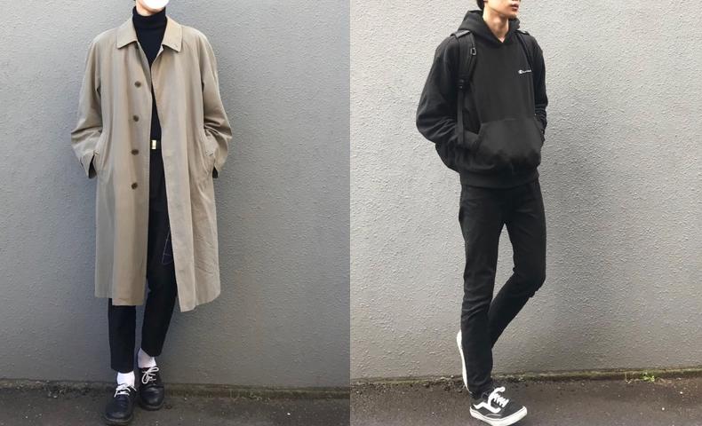 高校生,ファッション,男子,冬,画像
