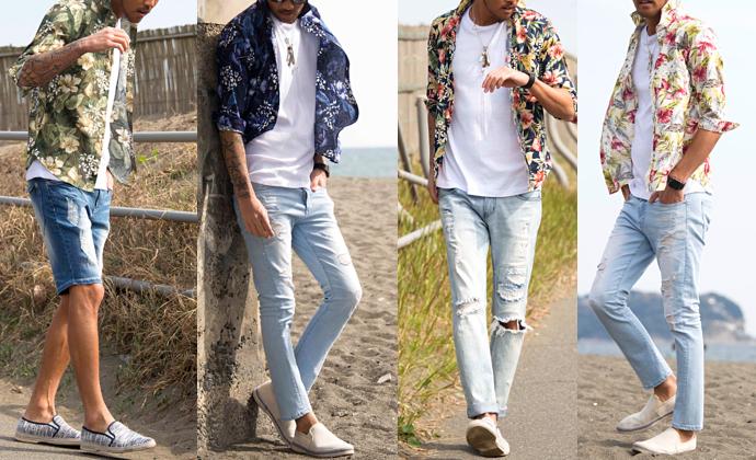 メンズがしたいリゾートなファッションコーデ特集【ハワイ&海】