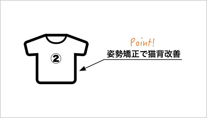 加圧シャツで姿勢矯正と猫背改善