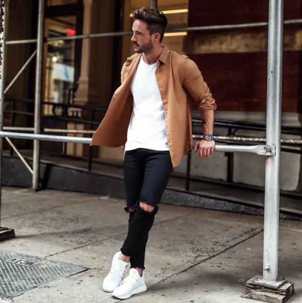 筋肉質,ファッション,春,メンズ