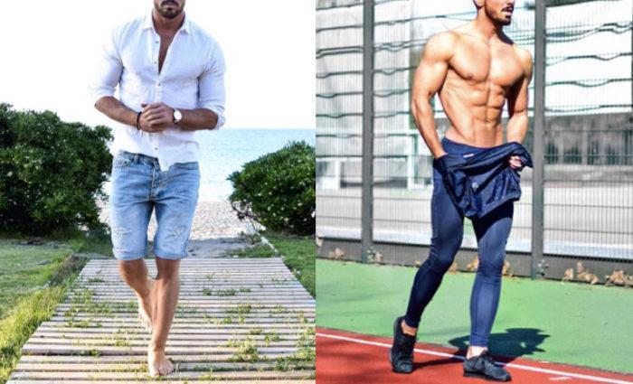 筋肉質 ファッション メンズ 夏 コーデ