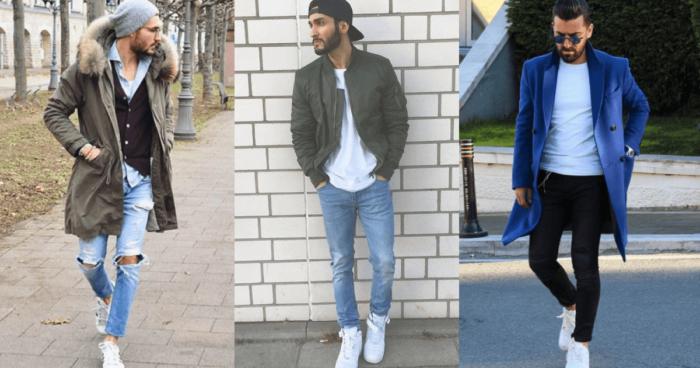 白スニーカーのコーデ|メンズ・冬【靴下ありの履き方まで】|服