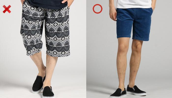 ショートパンツの丈の違い